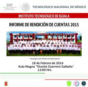PORTADA SOBRE CD INFORME REND CUENTAS 2015