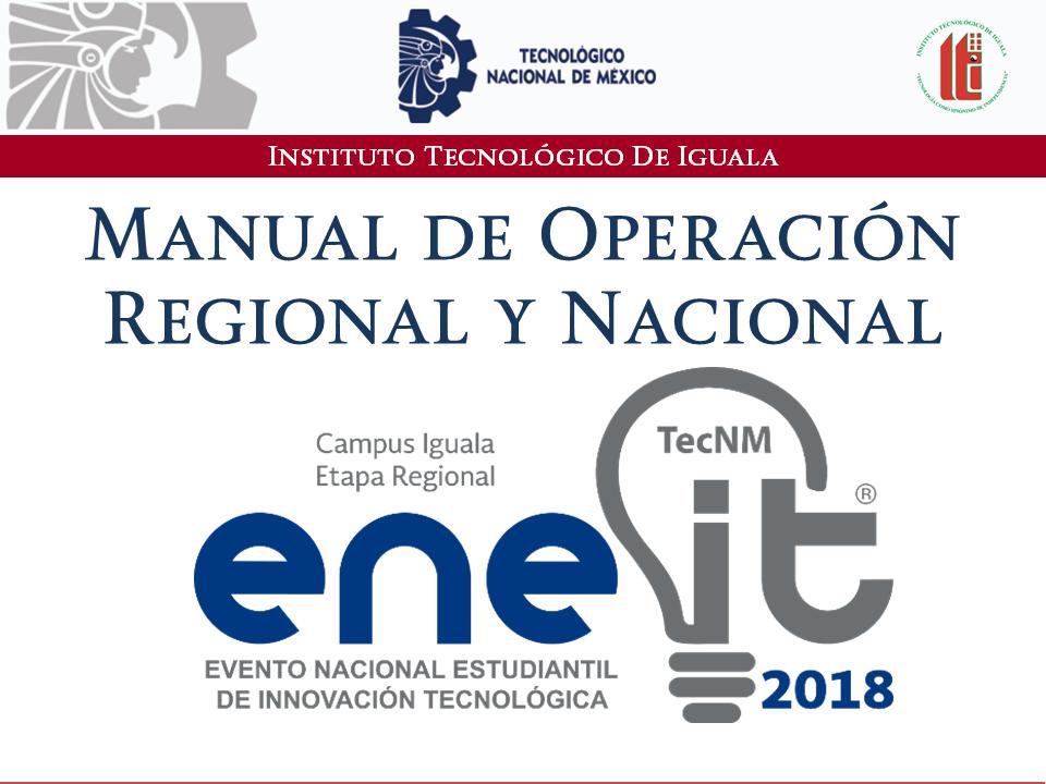 manual de operacion  Etapas regional y nacional