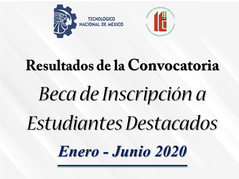 convocatoria beca inscripcion 2020
