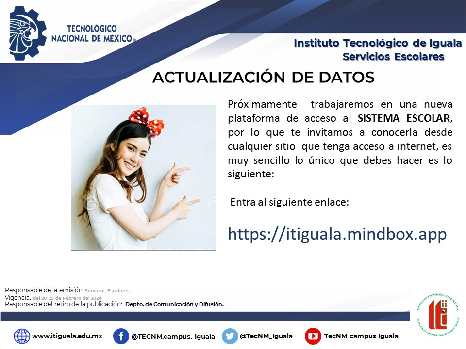 ACTUALIZACION DE DE DATOS